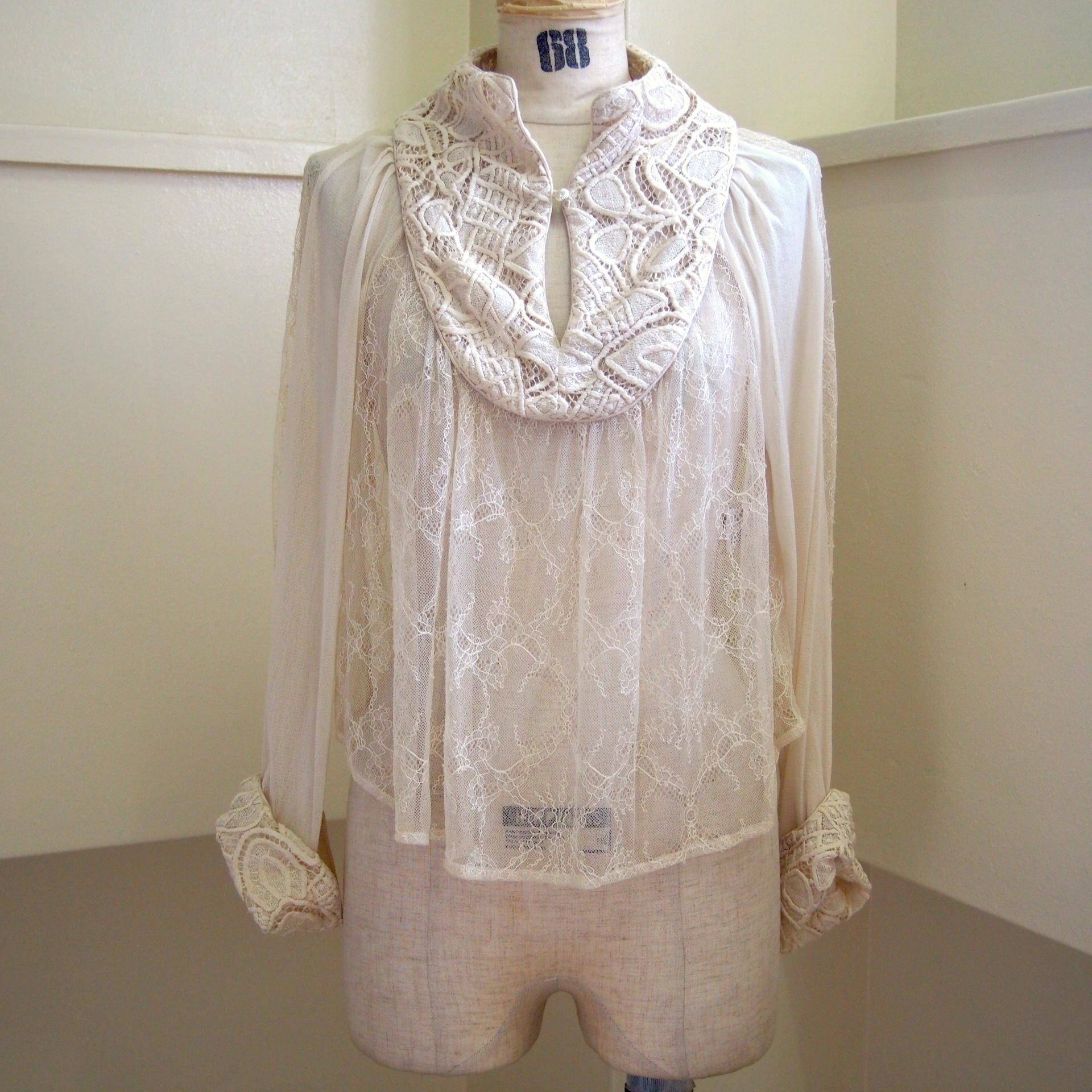 【RehersalL】lace trimming blouse(milk) /【リハーズオール】レーストリミングブラウス(ミルク)