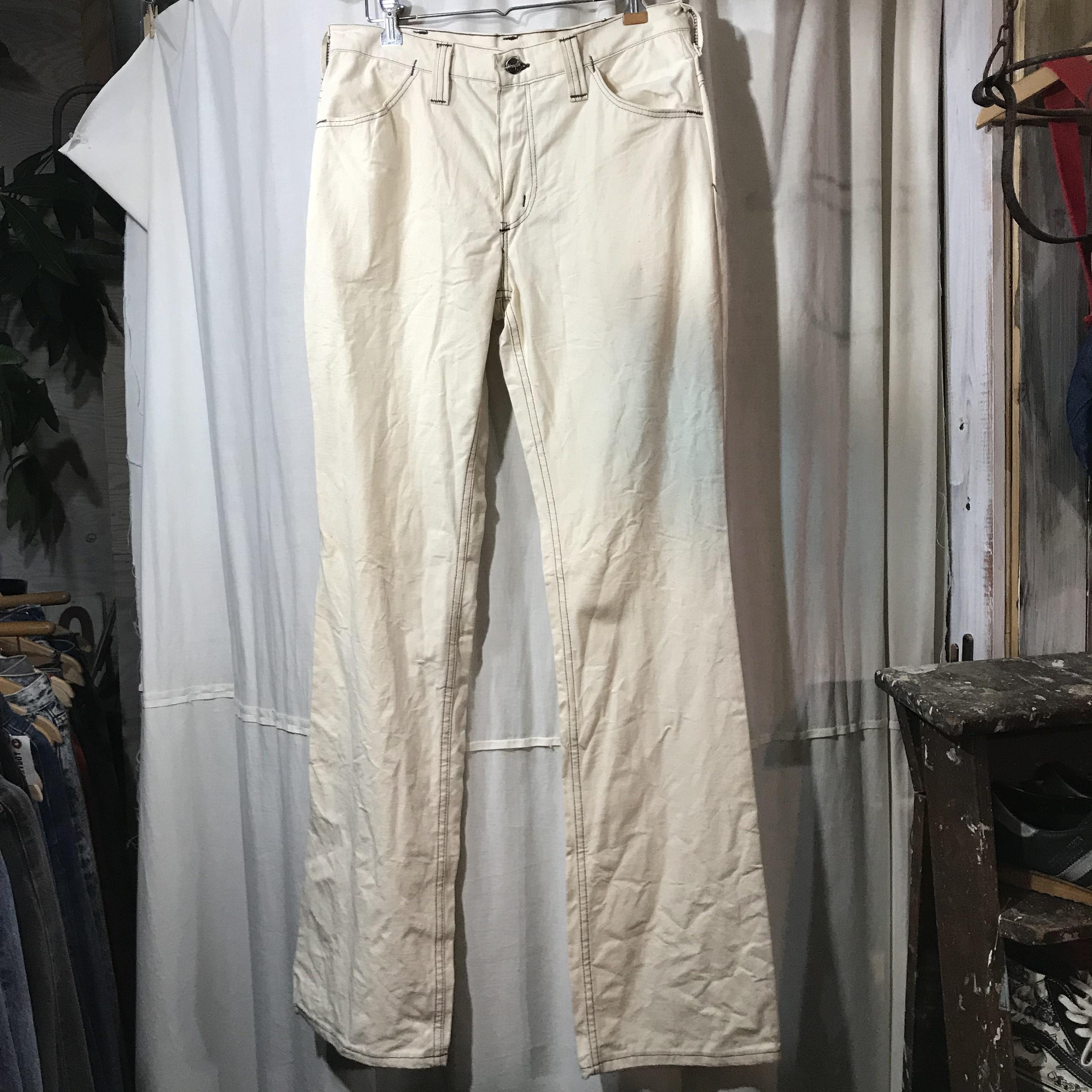 70's vintage Dead Stock Wrangler ラングラー 生成り ワークパンツ 未使用 W30
