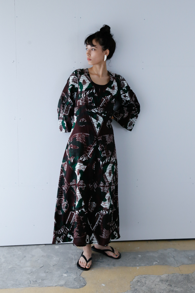 80's African Wax Print Dress