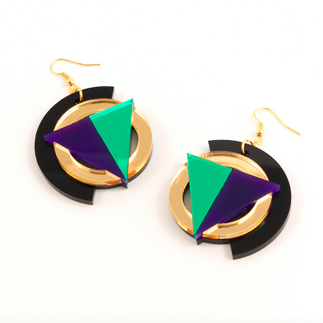 "MYSTIC FORMS ""Geometric Perspex Statement Earrings "" FORM004 ピアス"