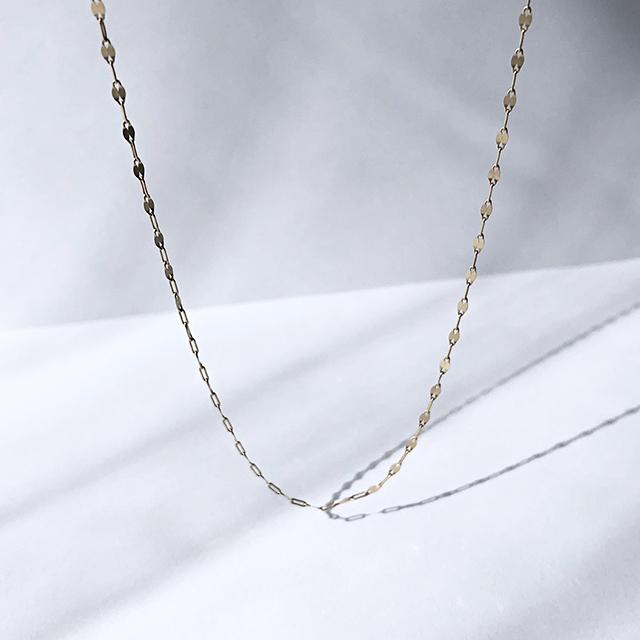 K10YG Design Chain Necklace / Matte