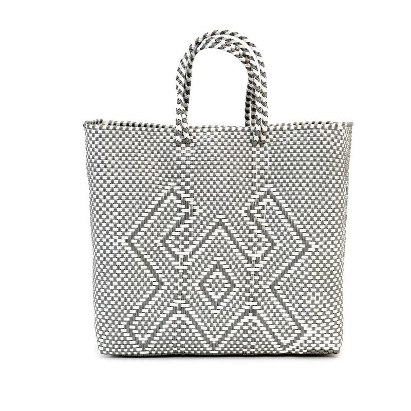 MERCADO BAG CANGREJO ‐ White x Silver(M)