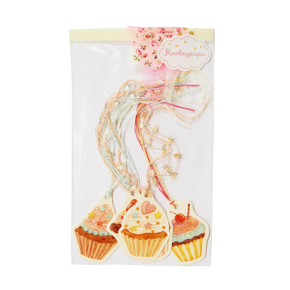 スイートカップケーキ〈メッセージカード〉(5つセット)