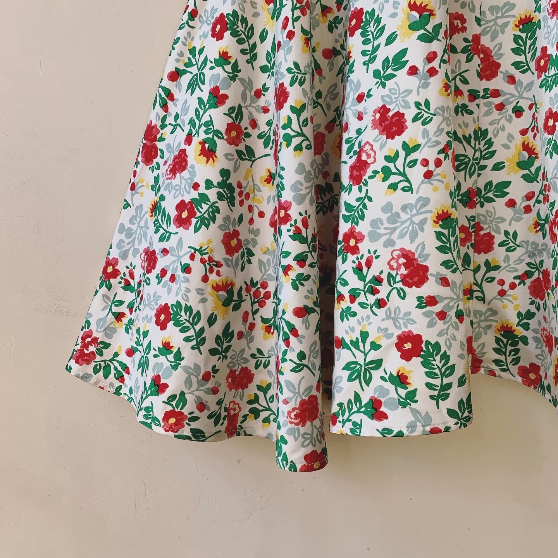 vintage flower design skirt