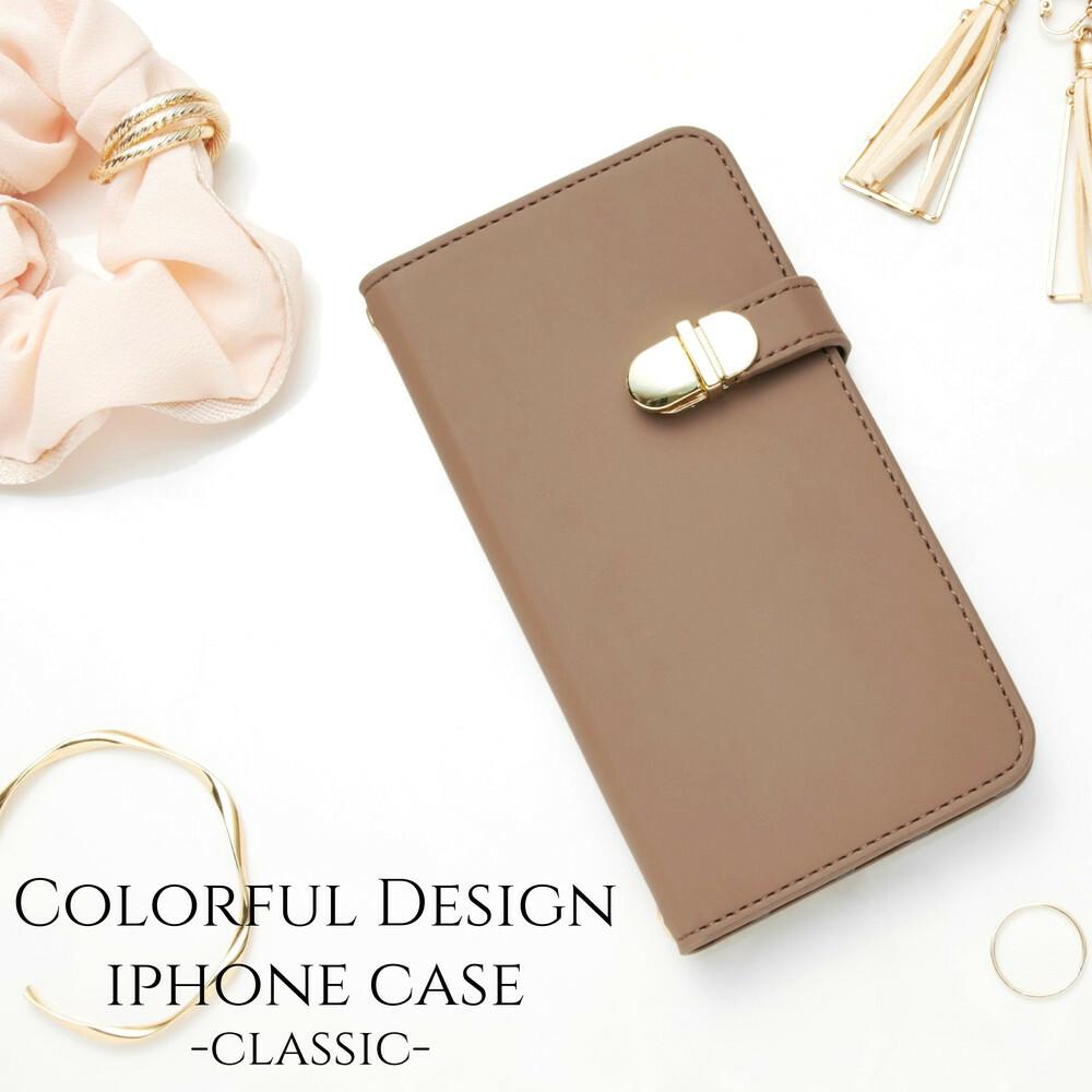 iphoneケース 手帳型 ミラー付き iphone8 iphonexs iphonexr iphone6s スマホケース シンプル かわいい おしゃれ 大人可愛い スタンド レディース アースカラー ブラウン