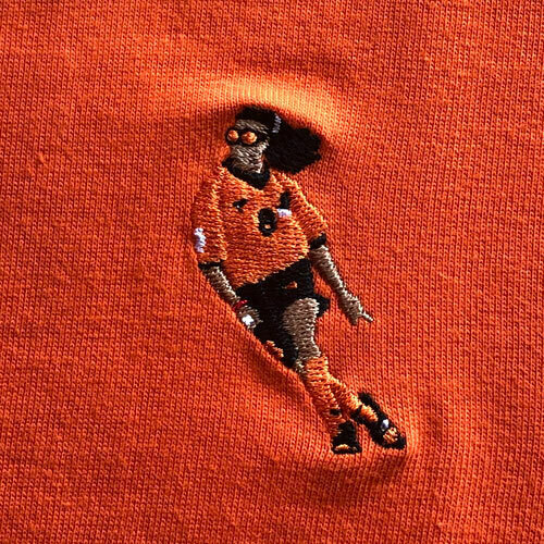 ファイティングドッグ刺繍Tシャツ 半袖 / ネザーランドオレンジ | SINE METU - シネメトゥ