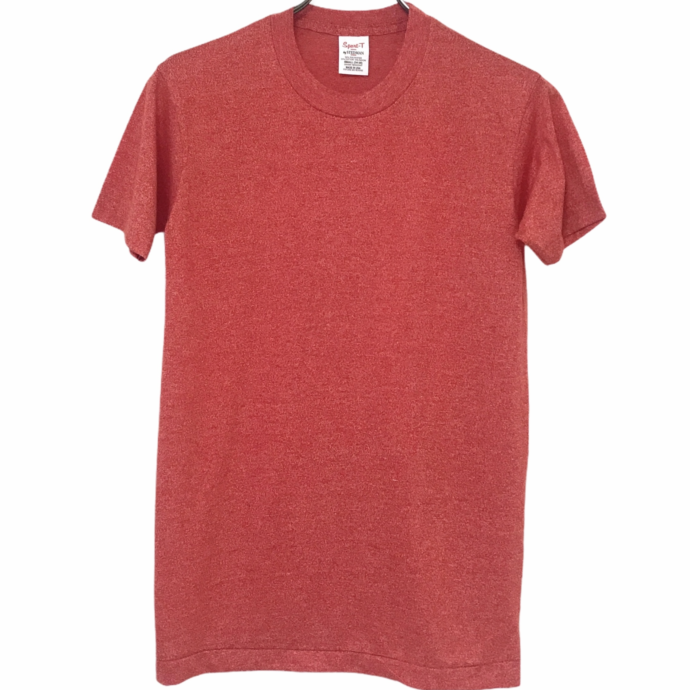 Dead Stock!70's Sport-T by STEDMAN T-shirt made in USA Red