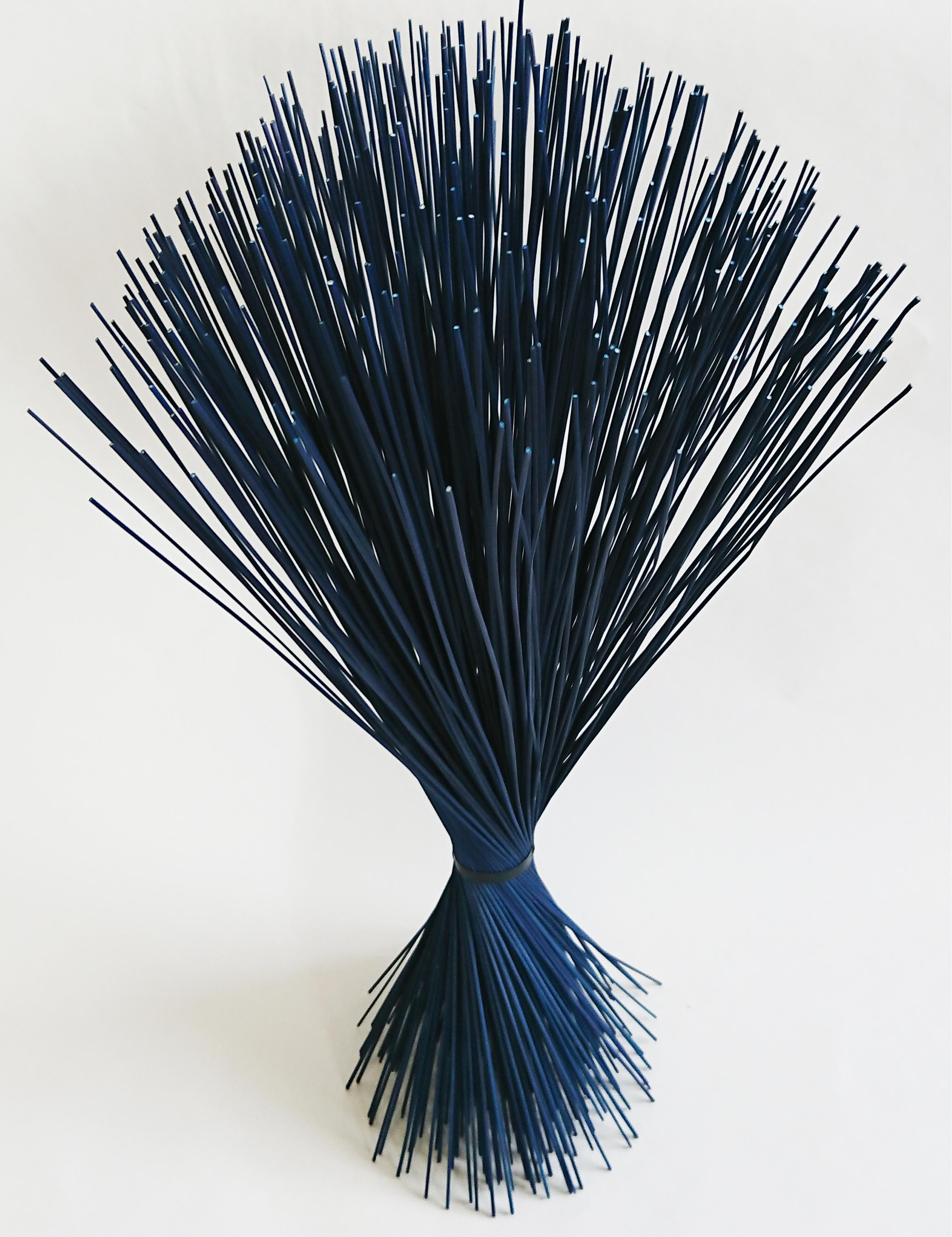 【イ草フラワー ダークブルー】Rush Grass Flower Dark Blue 35cm