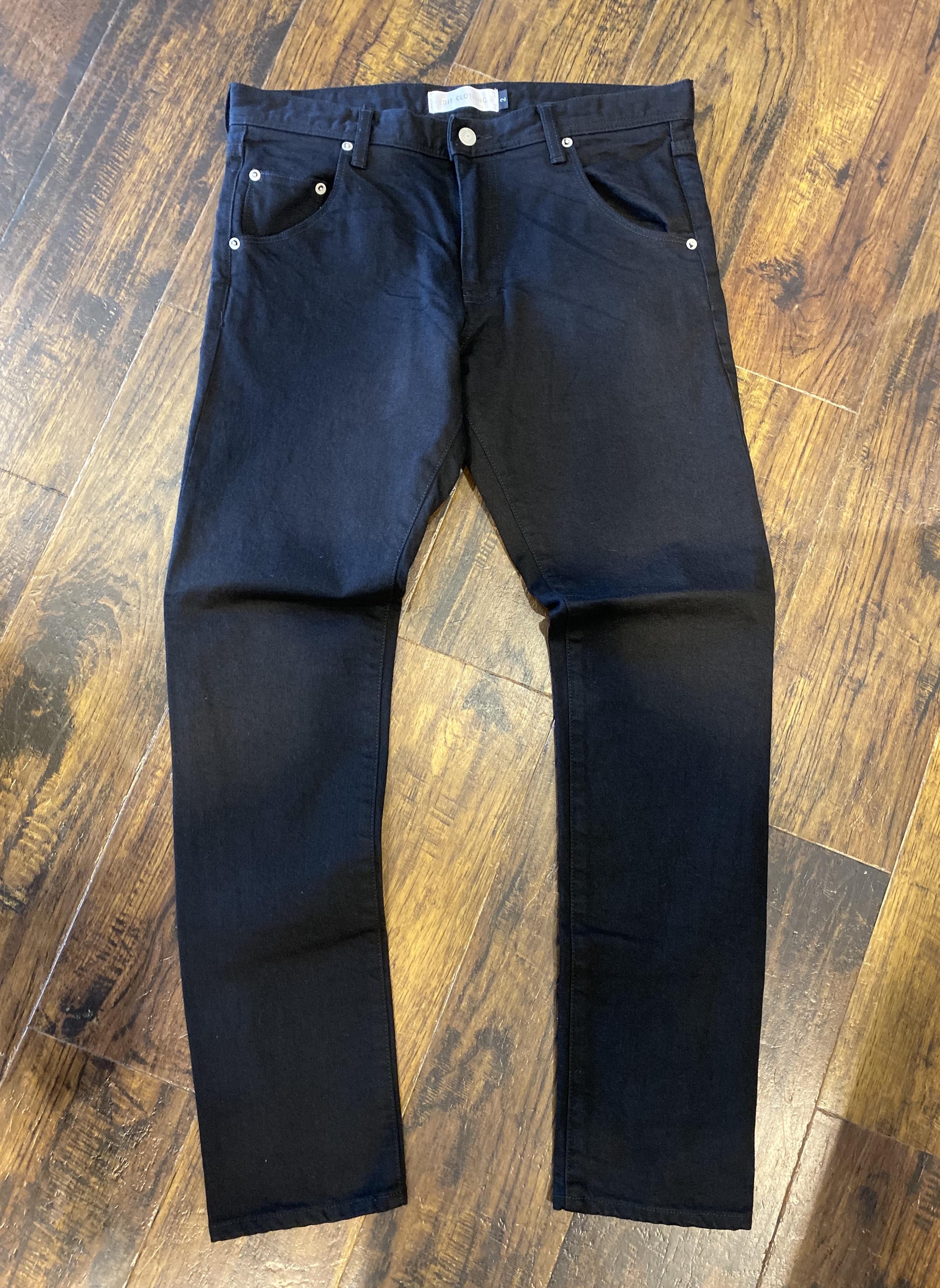 edit clothing  Black skinny denim pants(ブラックスキニーデニムパンツ)