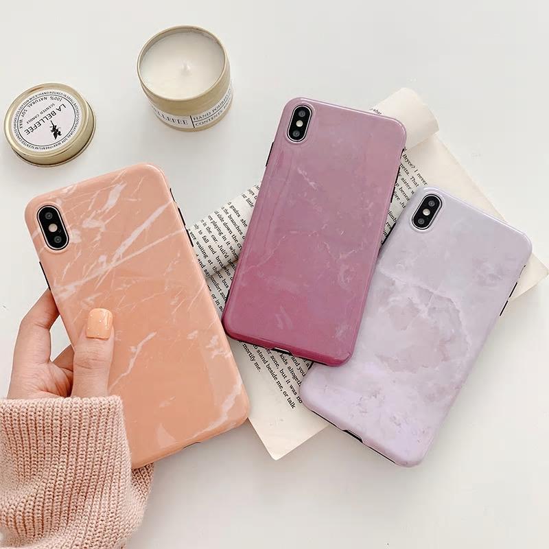 【お取り寄せ商品、送料無料】3カラー 大理石調 シンプル ソフト iPhoneケース iPhone11