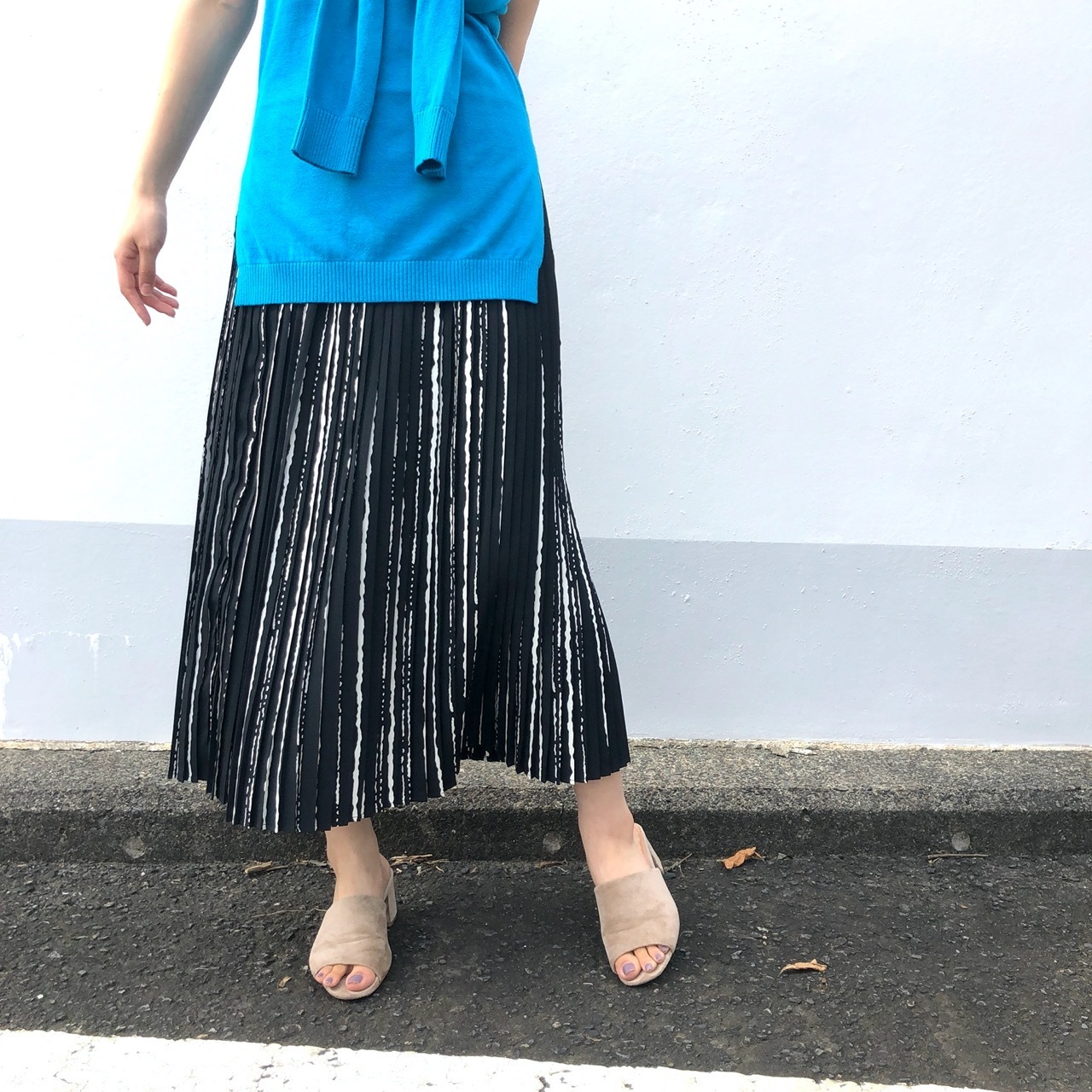 【 ROSIEE 】- R250212 - ストライププリーツスカート