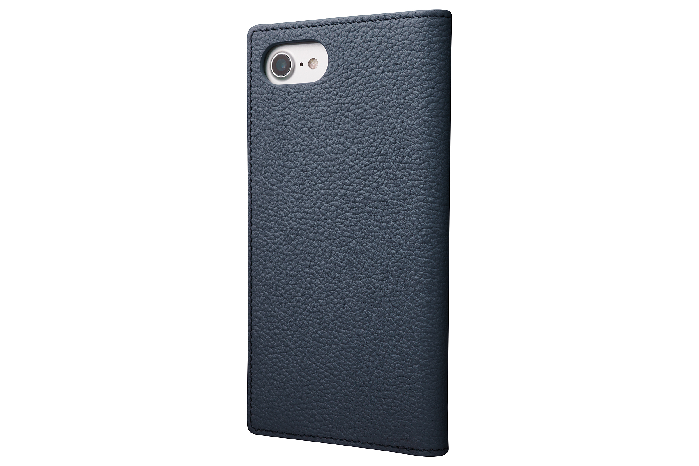 GRAMAS Shrunken-calf Full Leather Case for iPhone 7(Navy) シュランケンカーフ 手帳型フルレザーケース GLC646NV - 画像2