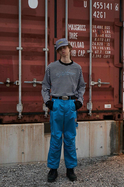 Nylon painter pants / BLUE - 画像2