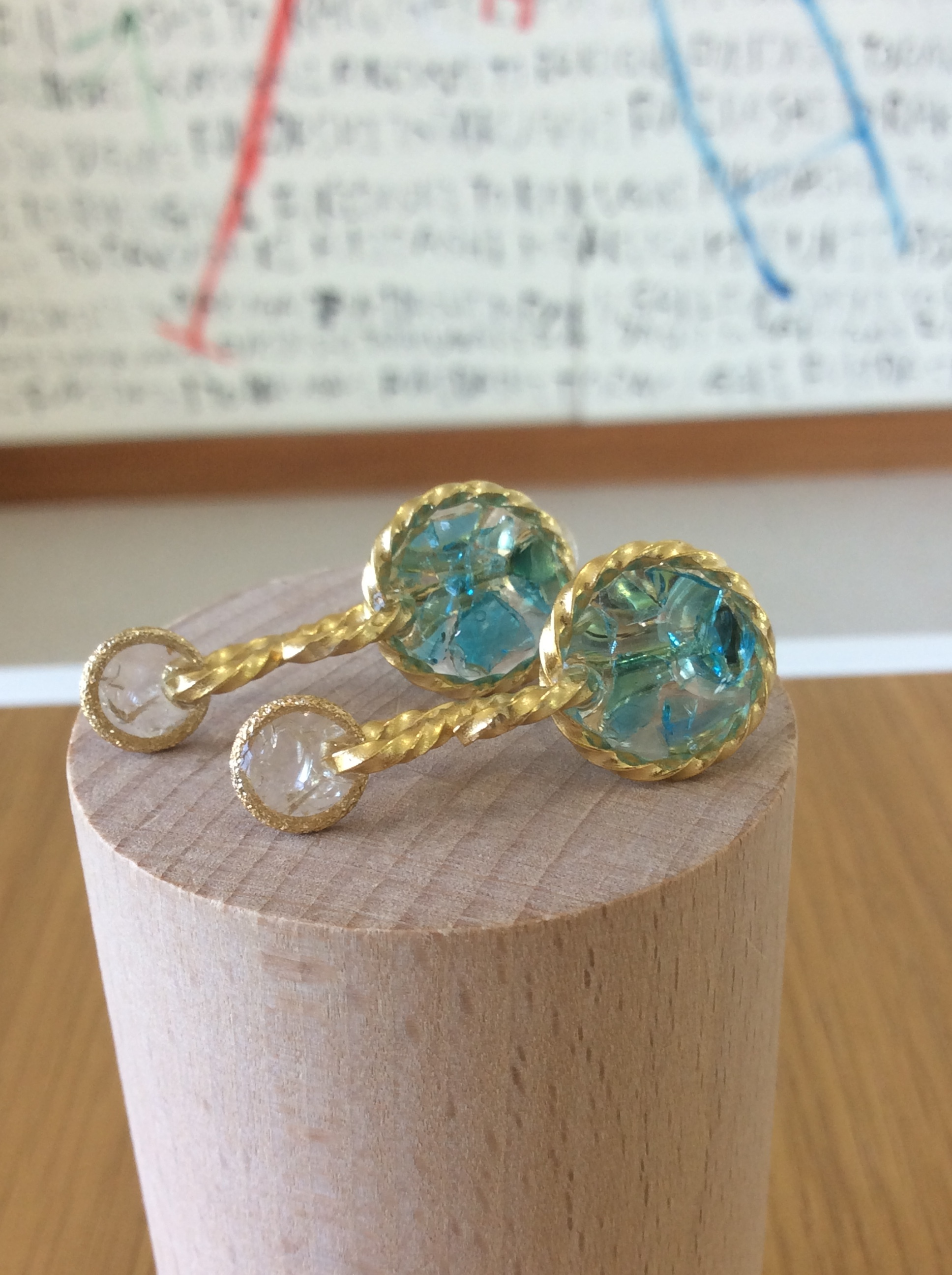 つなぐ- ryukyuglass earring -