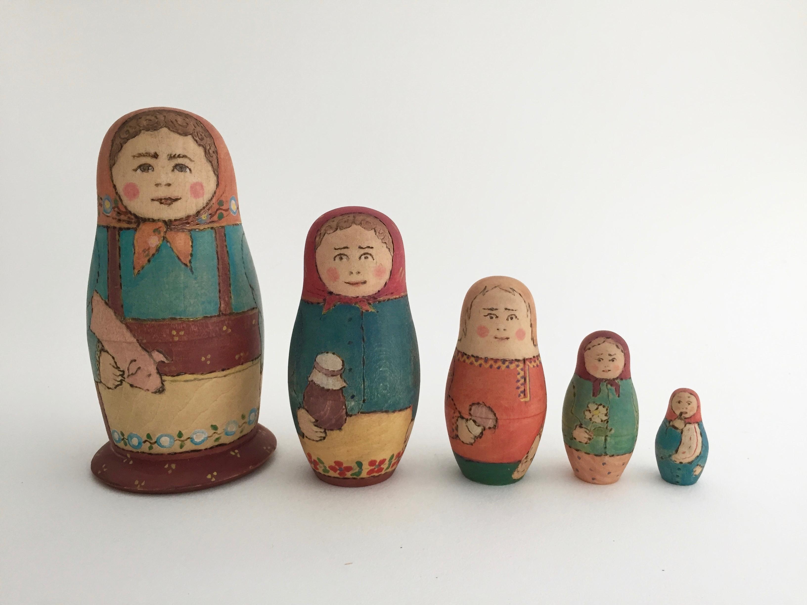 リャボフさんのマトリョーシカ(5個組)  1