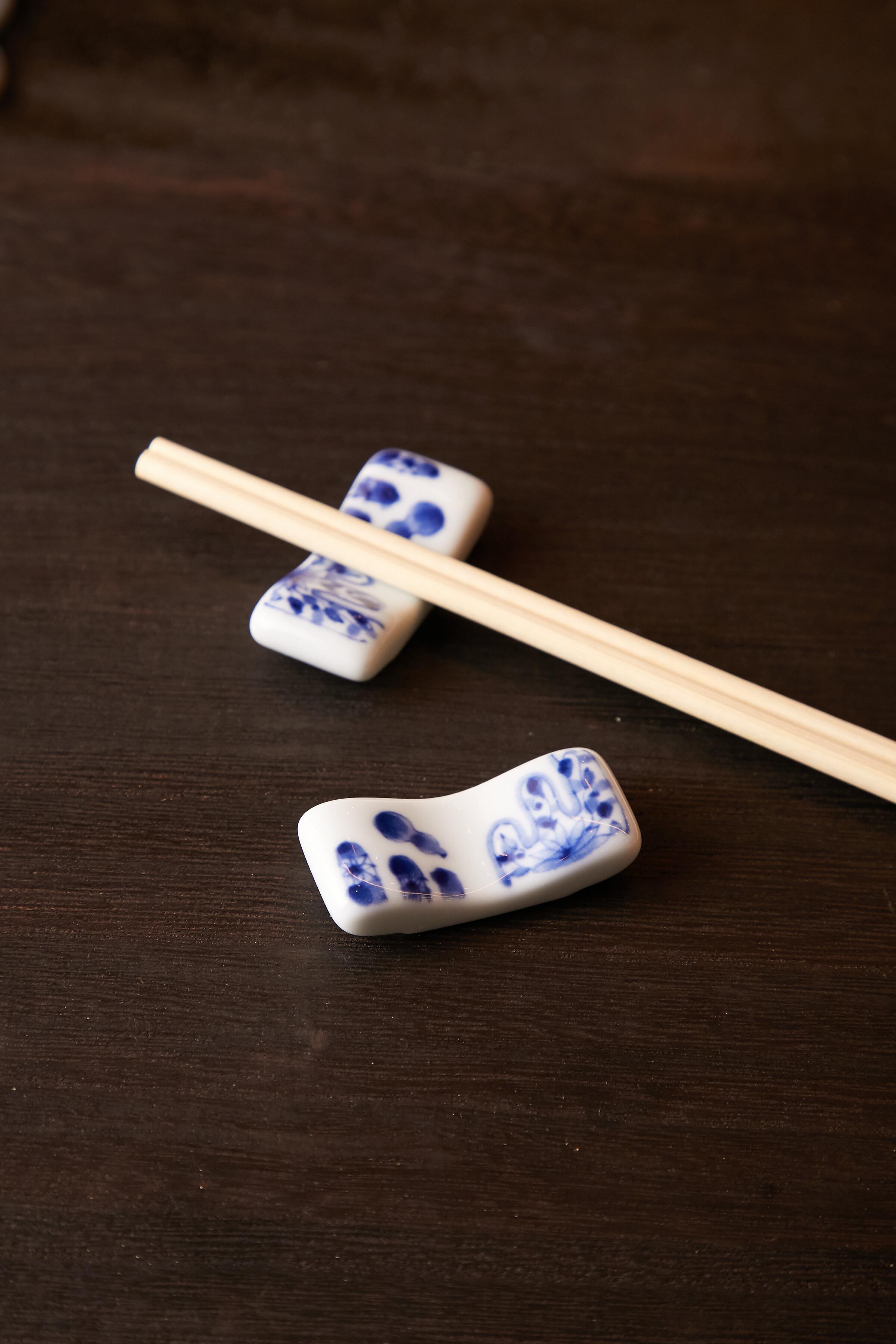 飛びひさご まくら型 箸置き 日本製 美濃焼【送料無料】