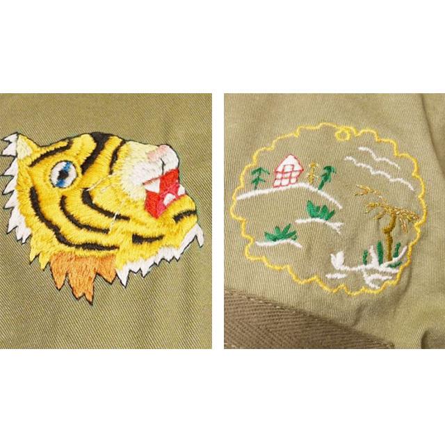 ≪オリジナル≫ミリタリー リメイク 手刺繍 ベトシャツ(ノーカラー)