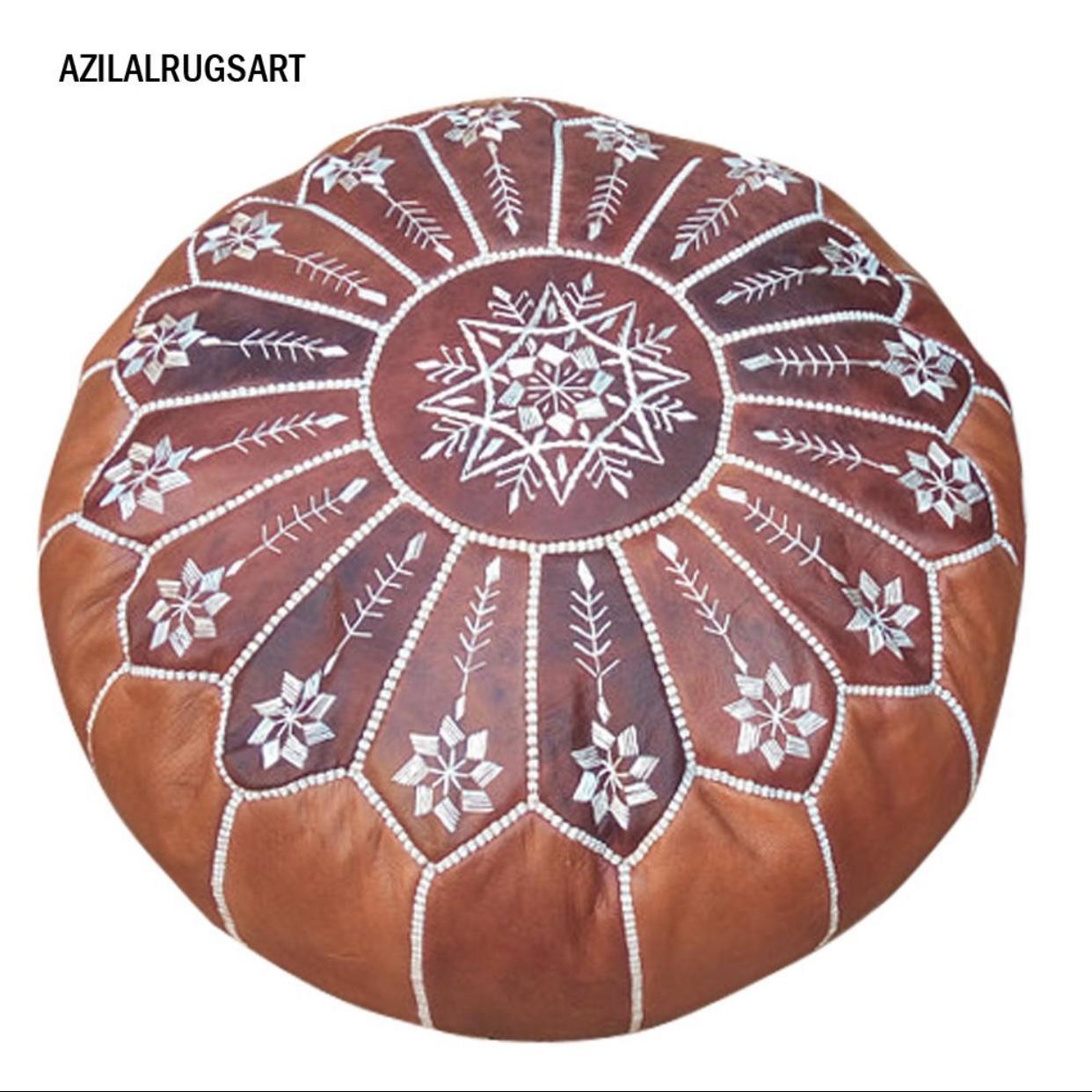 モロッカンプフ 刺繍あり 中身綿込み(オイルあり)POUF