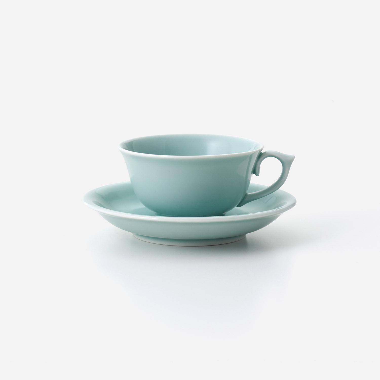 青磁 紅茶碗皿