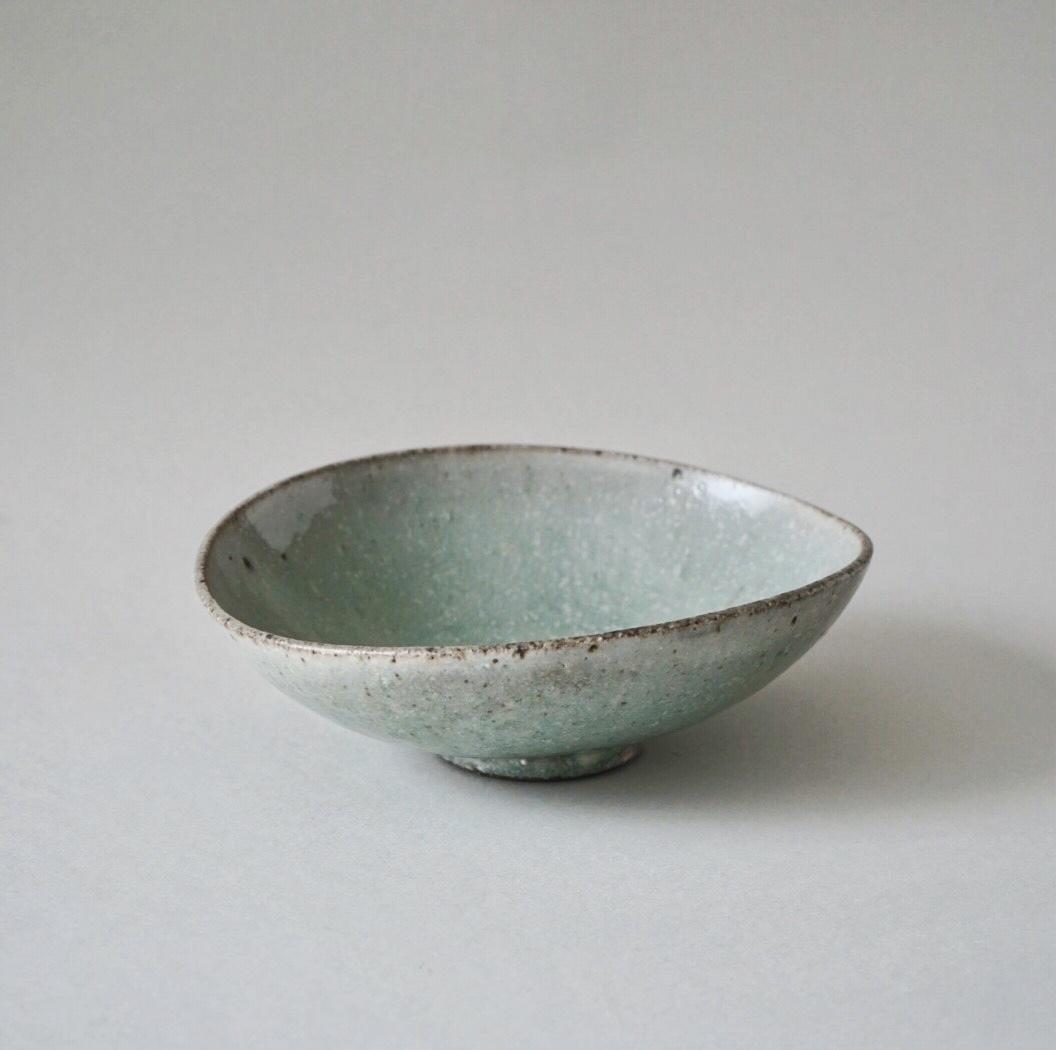 小林徹也 / 粉引 - 楕円鉢