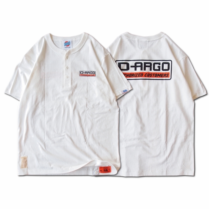 "【DARGO】""D-ARGO"" Henryneck T-shirt (NATURAL)"