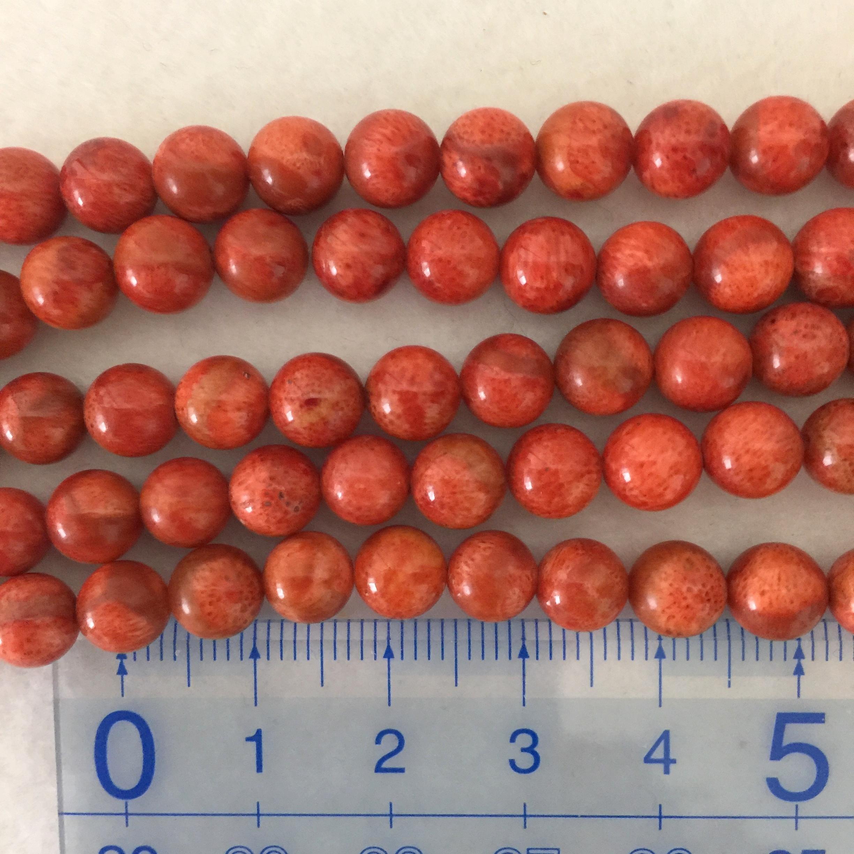 スポンジサンゴ 約6.5~7mm 明 連材【190014D】