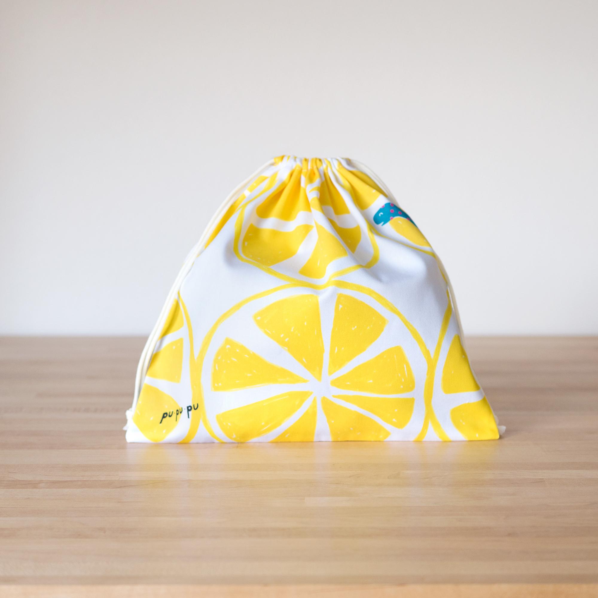 ぷぷぷ巾着/爽やかレモン
