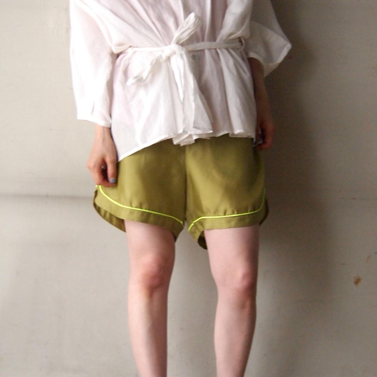【hippiness】cupro piping short pants/【ヒッピネス】キュプラ パイピング ショート パンツ