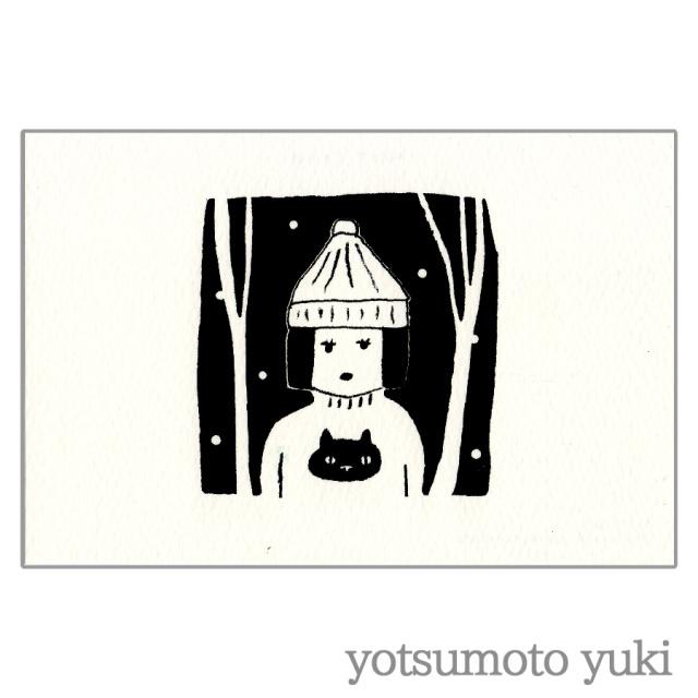 ポストカード - セーターの子 - ヨツモトユキ - no11-yot-06