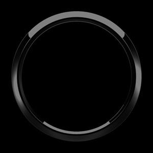ゴーバッジ グリルバッジホルダー交換用リング(黒) - 画像2
