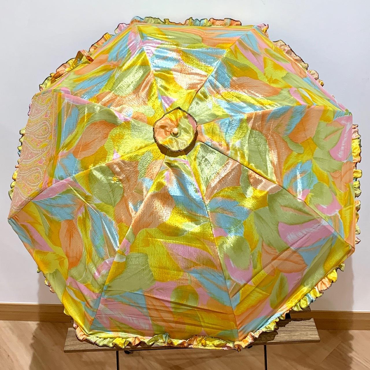 saripn-013 シルクサリー パラソルカバー 折畳傘本体・共布バッグ付き