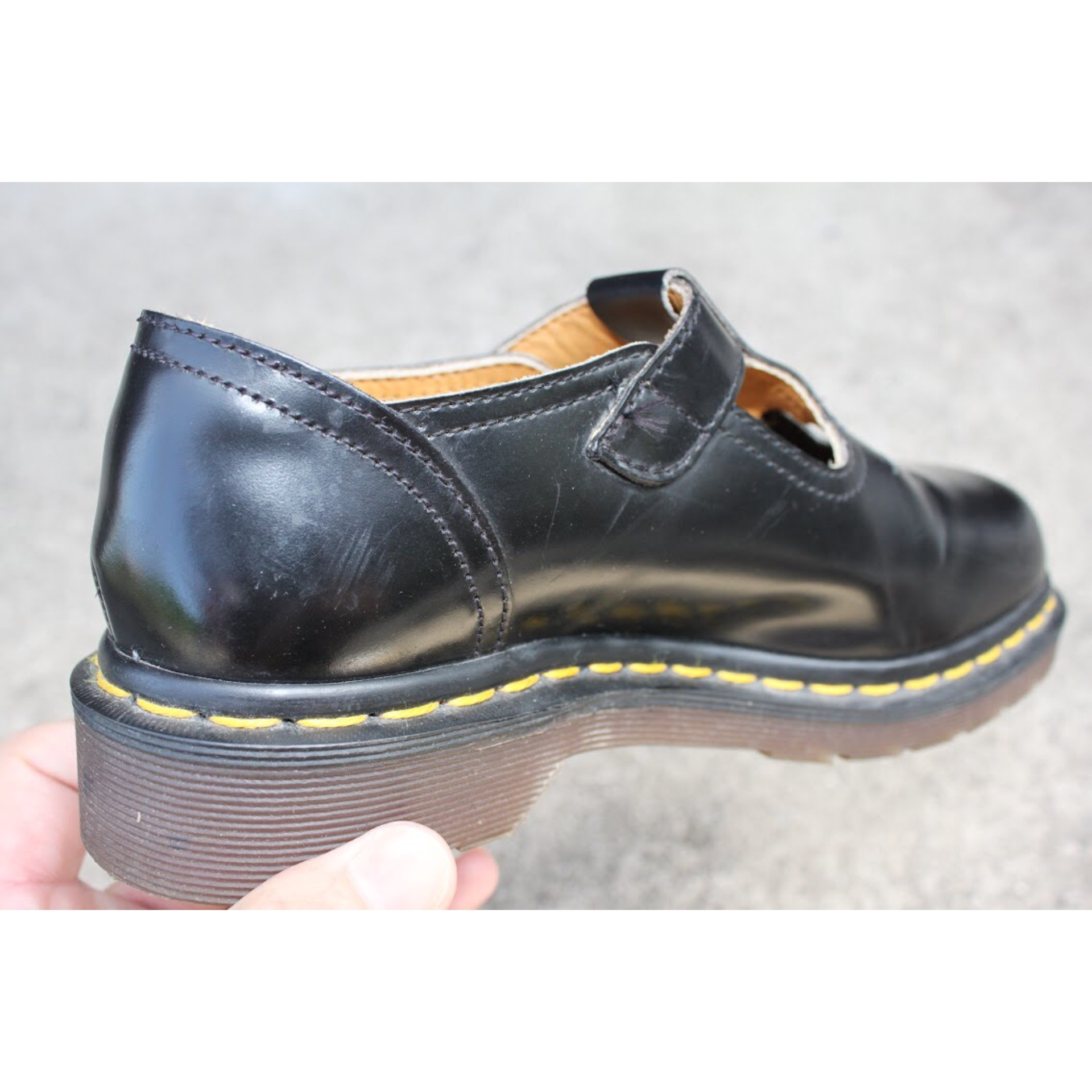 Dr. Martins T bar shoes Made in England 3