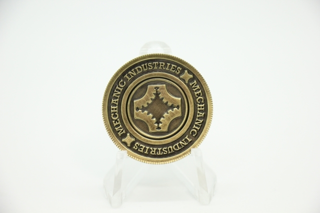 ポーカーチップスタイルコイン ハーフダラー (Bronze)