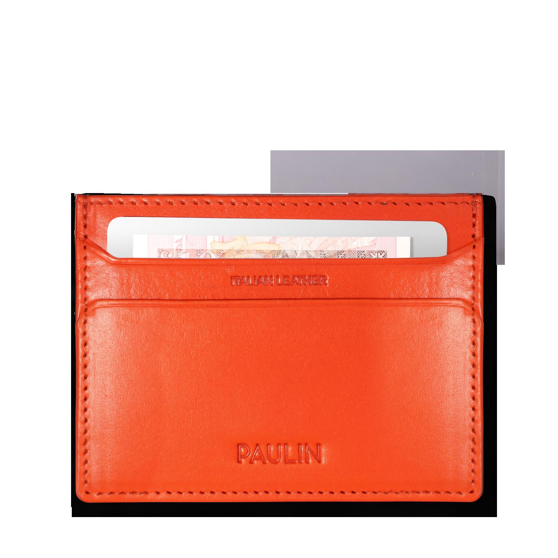 PAULIN カードケース オレンジ
