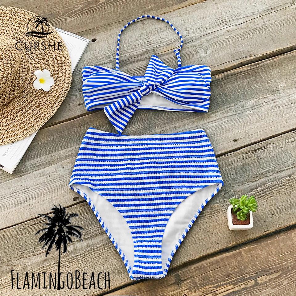 【FlamingoBeach】blue border bikini ビキニ