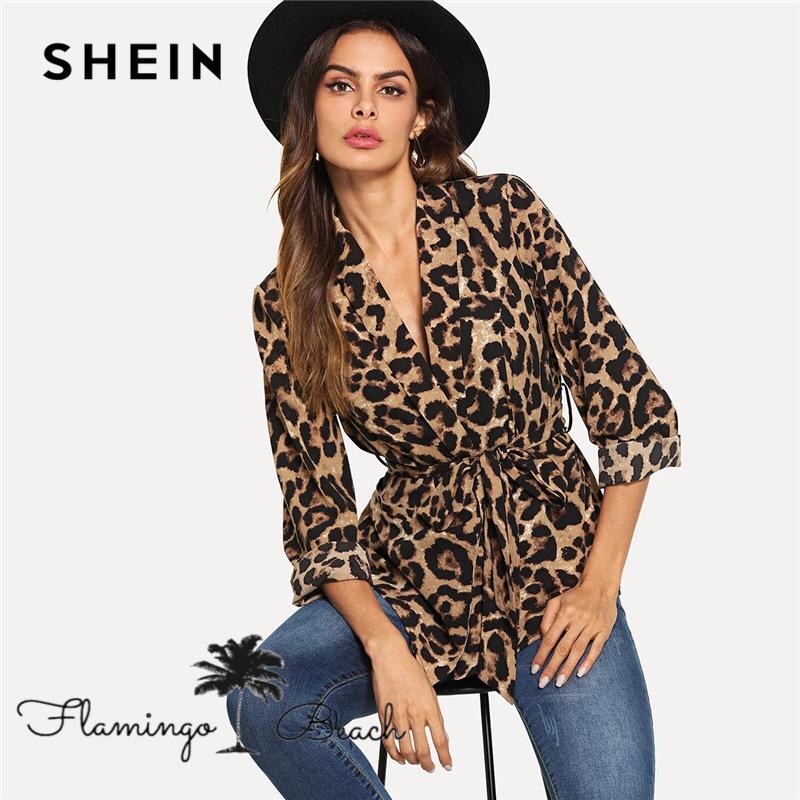 【FlamingoBeach】leopard tops