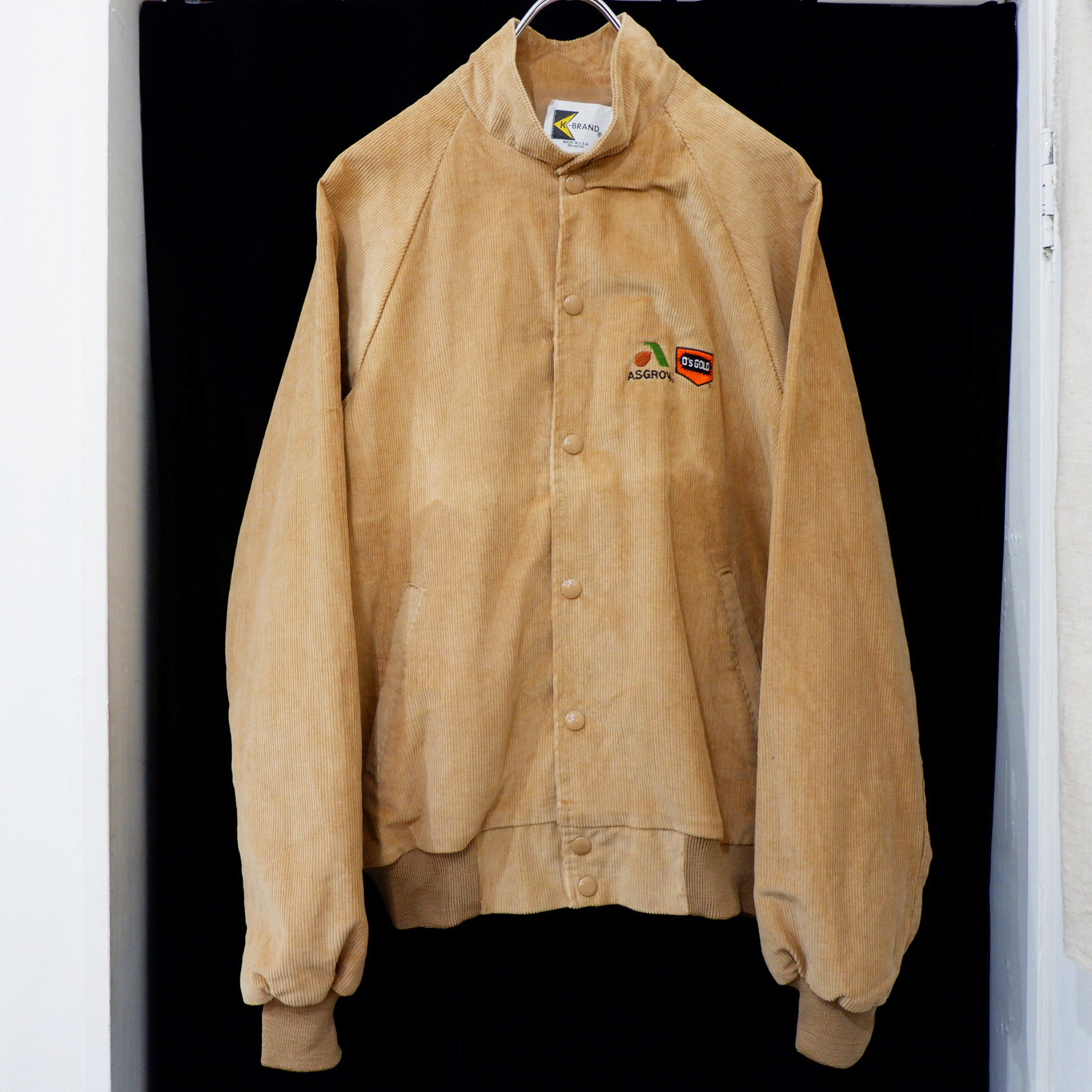 アメリカ古着 1980s USA製 企業ロゴ コーデュロイ ジャケット
