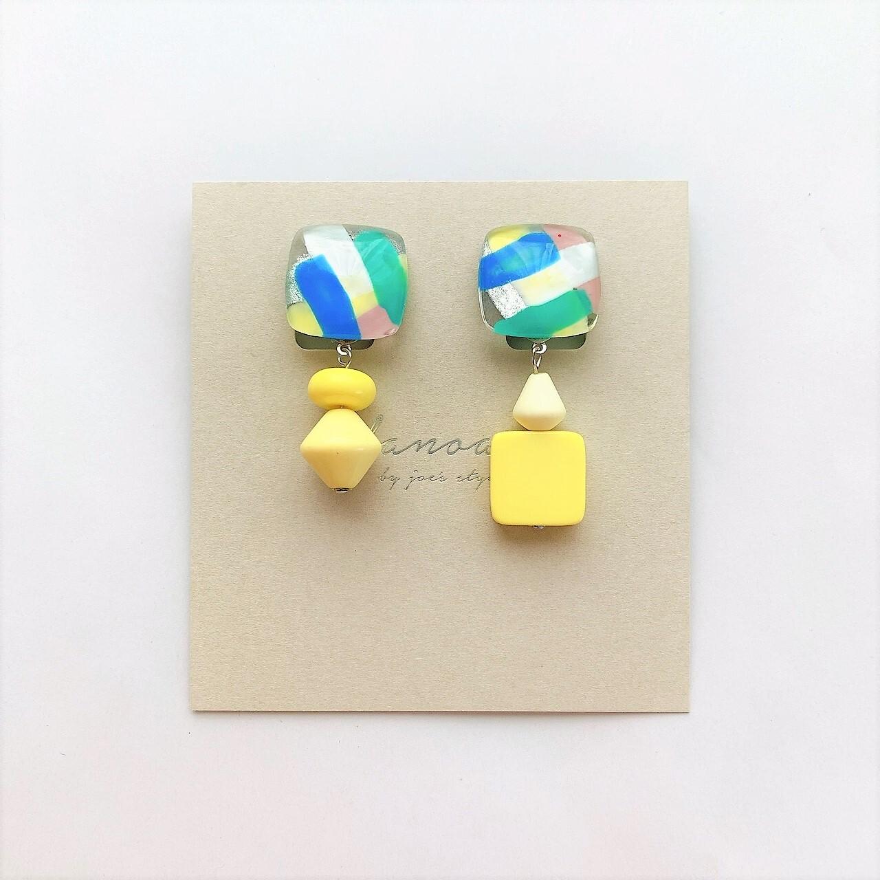 """"""" Earrings NO.danoan-2″ アシメペイント"""