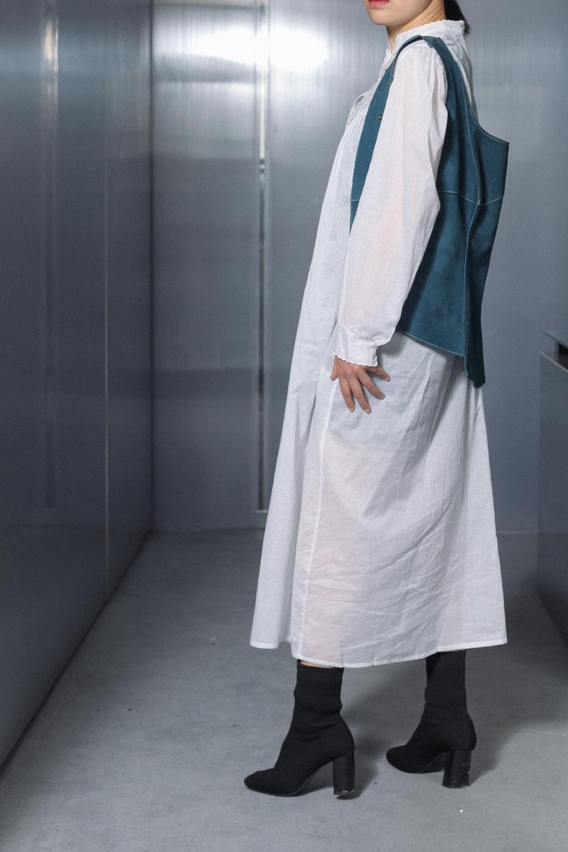 70-80's Thin Cotton Maxi Dress