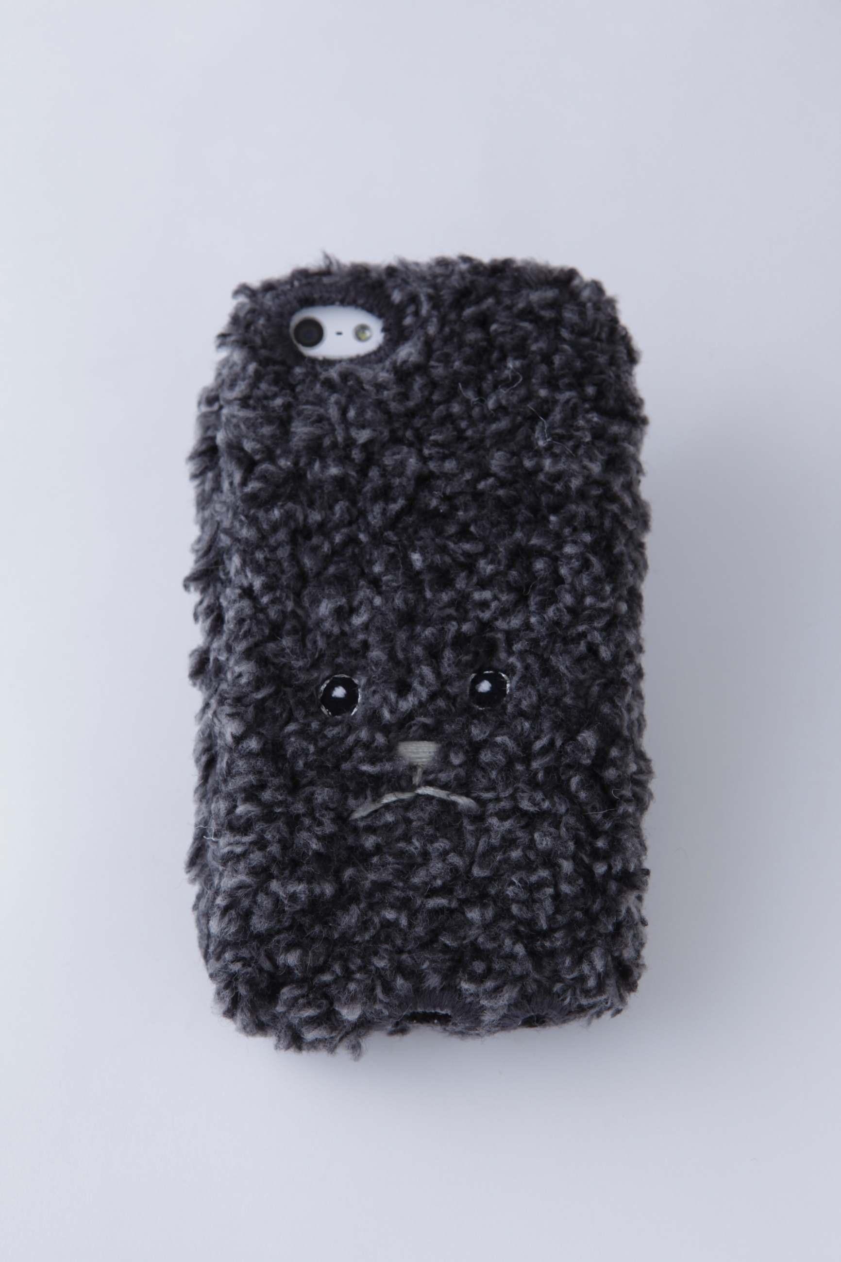 トイプードルiPhone5/5c/5sカバー(mix) 【ブラック】