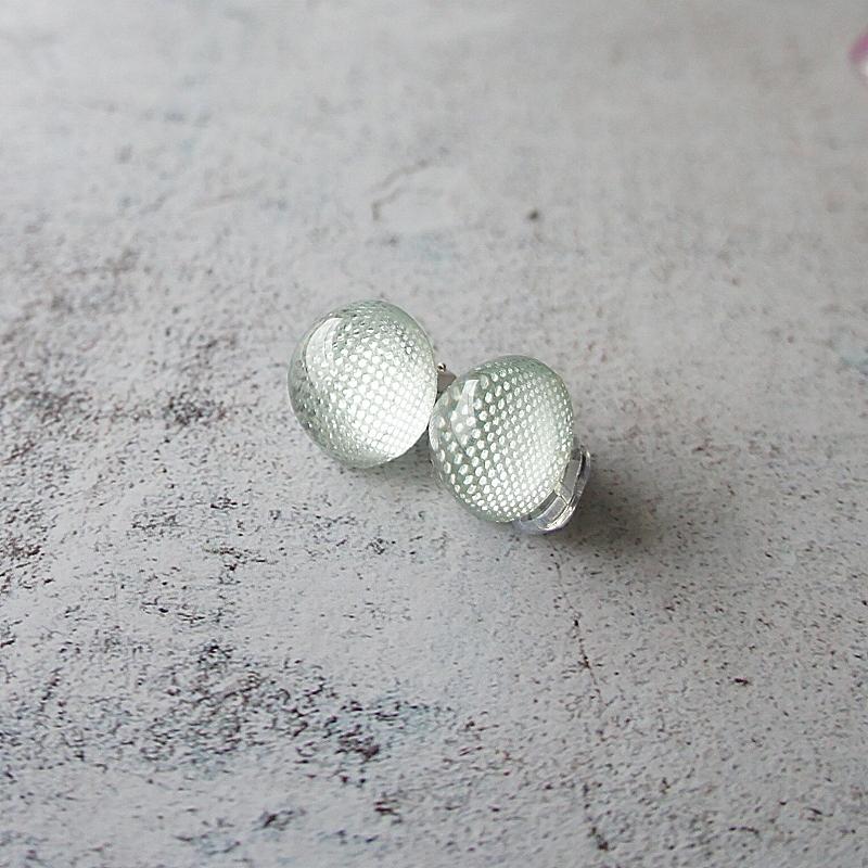 """"""" Earrings NO.0-1862″ ブルー輝き一粒"""