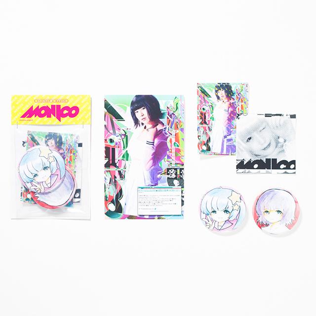 ステッカー&バッヂセット【MONICO】