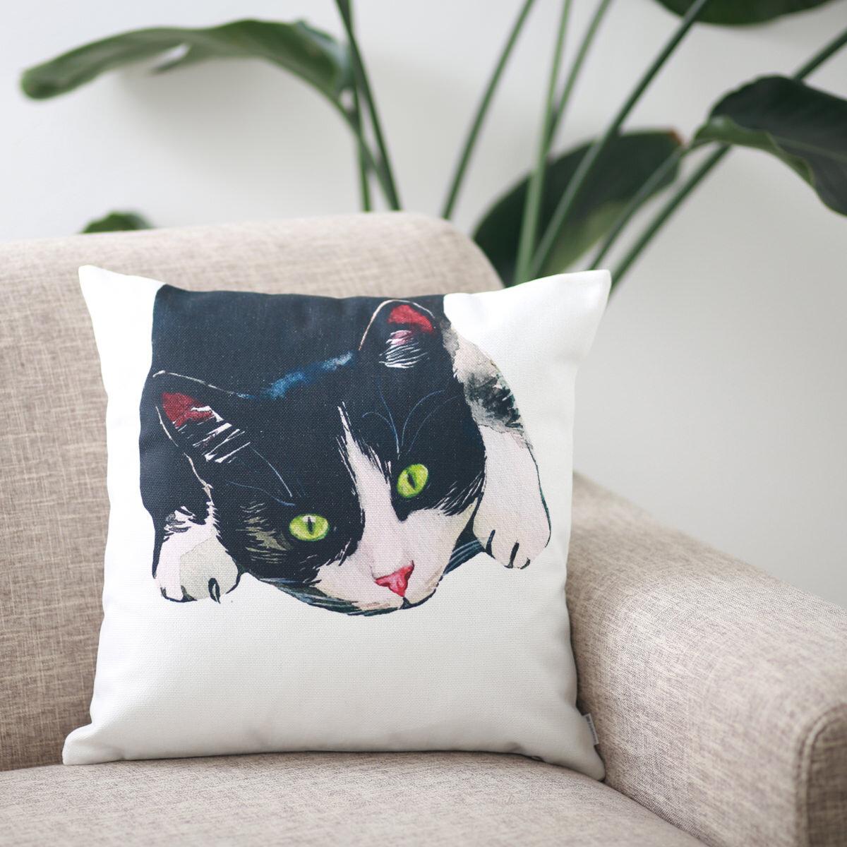 クッションカバー GREEN EYE CAT