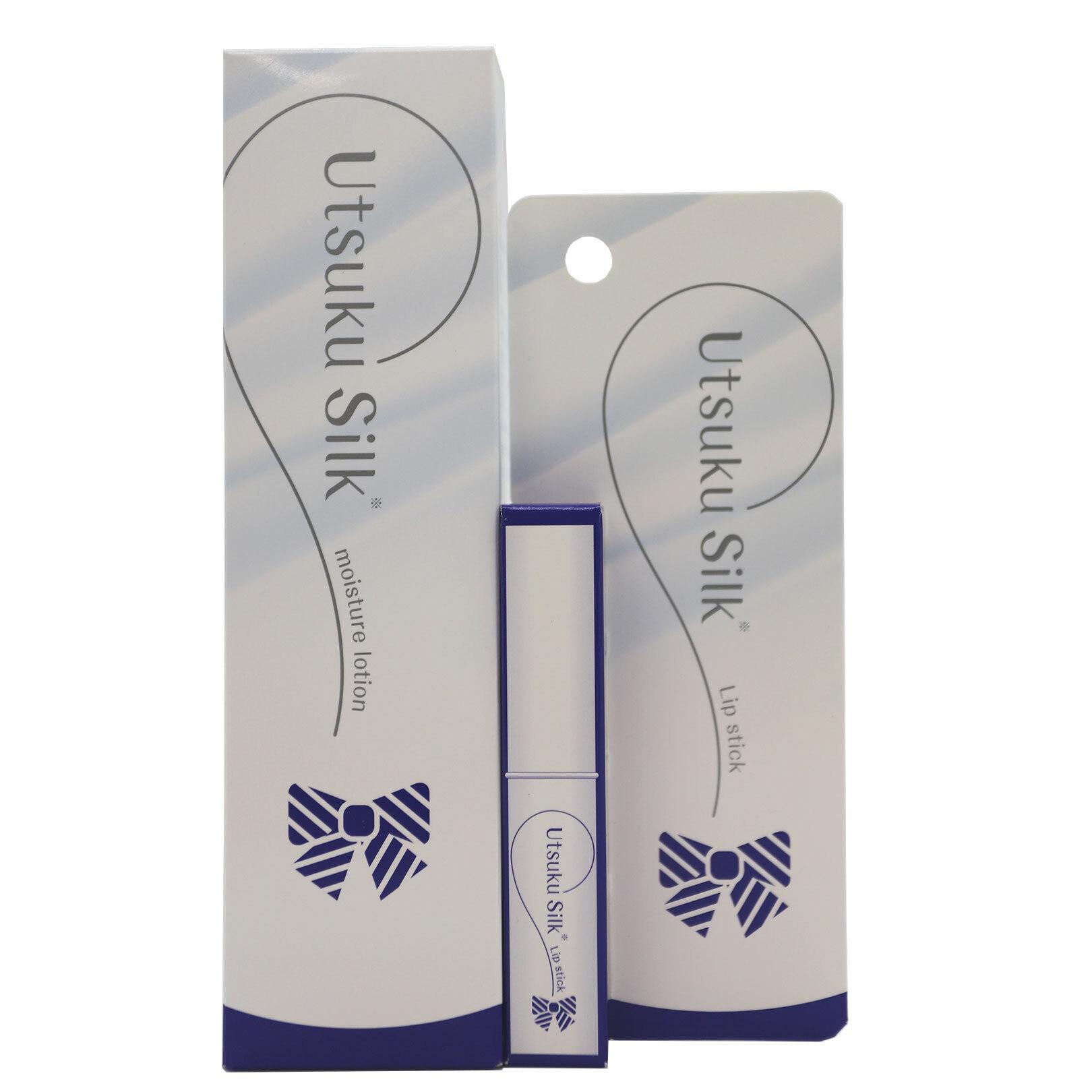 美絹(うつくしるく) 化粧水・リップスティックセット|加水分解シルク・海洋深層水配合