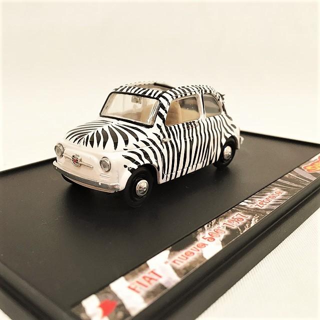 FIAT nuova500 1957 zebrata SAFARI PARK【brumm】【1個のみ】【税込価格】