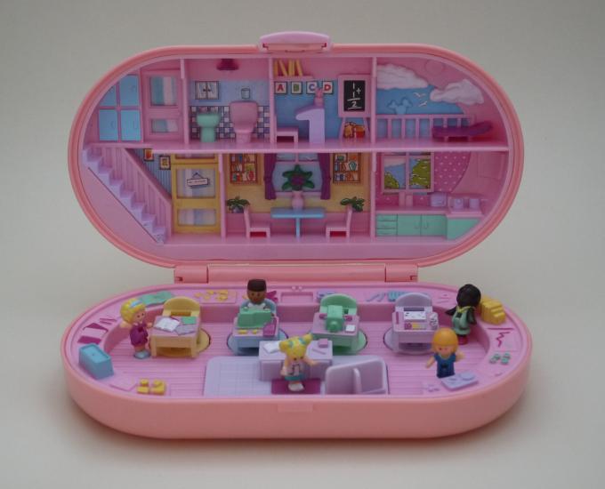 ポーリーポケット スクールスタンプ 1992年 ピンク完品