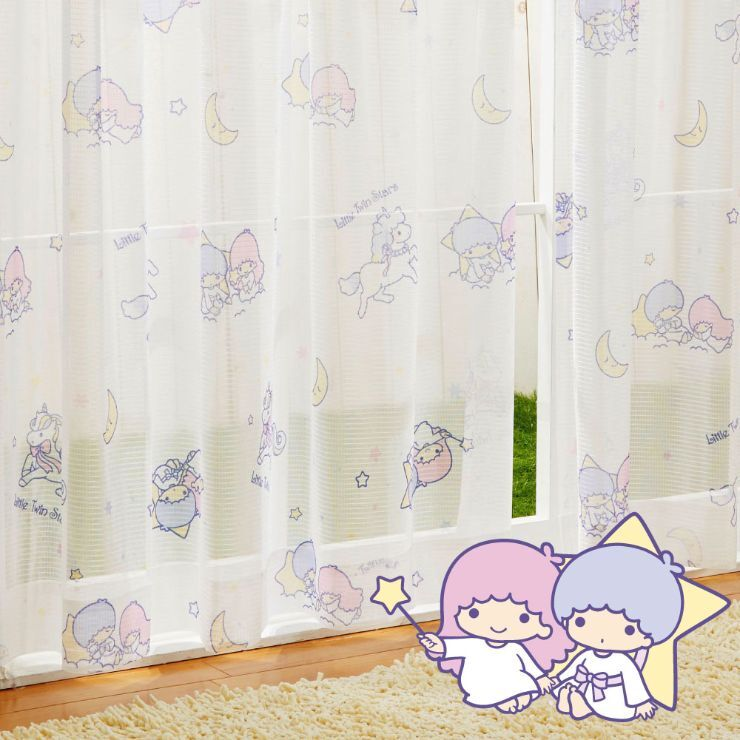 キキ &ララ レースカーテン (幅100×133cm丈)【送料無料】
