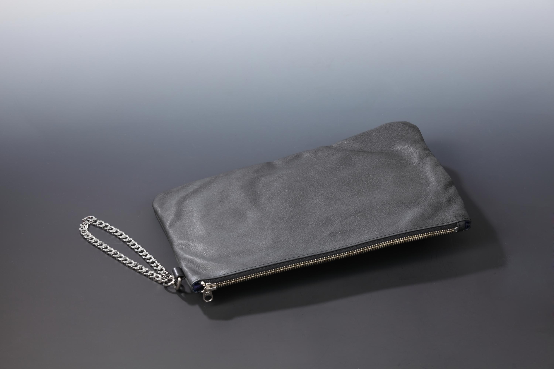 【国産イノシシ革】Designers Jewelry buff コラボウォレットクラッチバッグ(チェーンver.)【NOTO Leather使用】