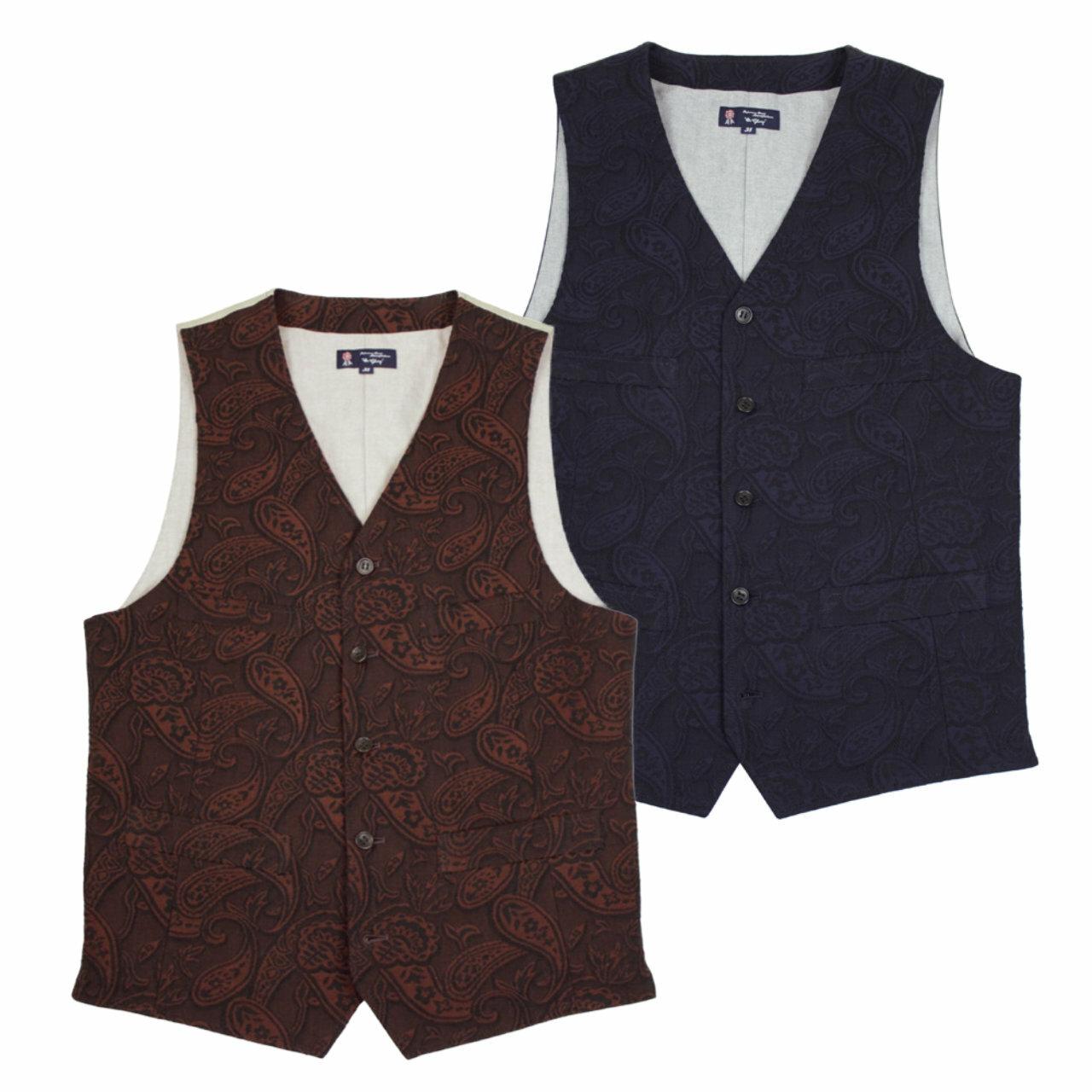JQ Paisley Vest | ペイズリー ジャガード デニム ベスト 【OR GLORY オアグローリー】