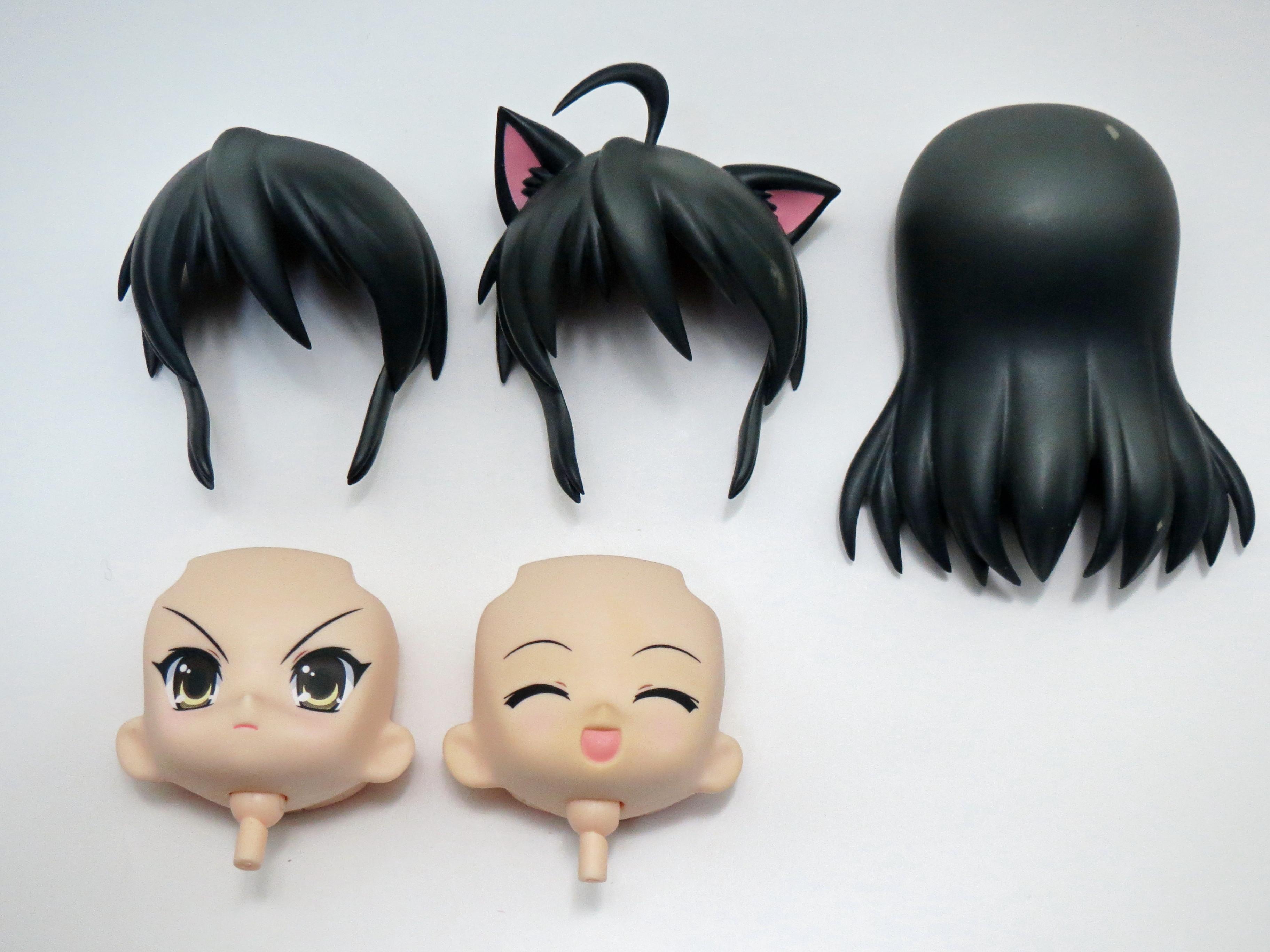 【047b】 シャナ 電撃大王Ver. 髪パーツ、顔パーツ2種セット (Cランク) ねんどろいど